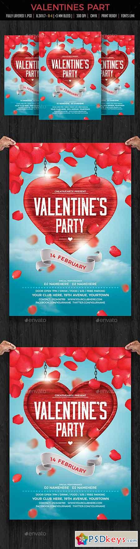 Valentines Party Flyer 19233659