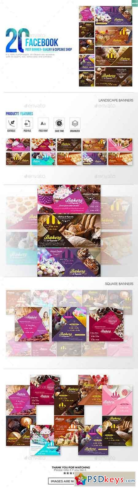 20 Facebook Post Banner - Bakery and Cupcake Shop 19284528