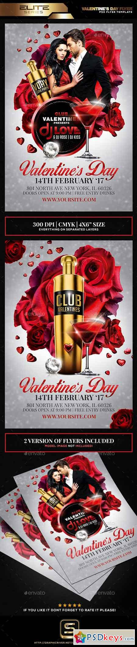 Valentine's Day Flyer Template 19270355