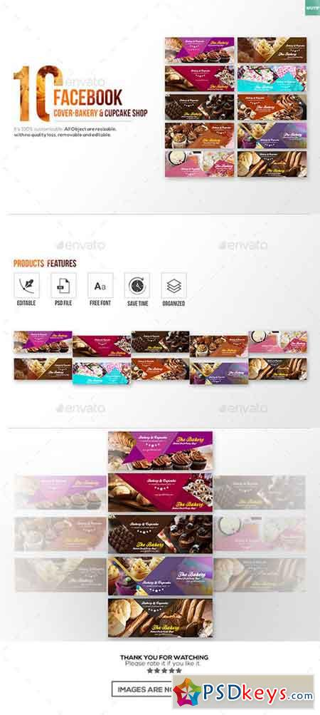 10 Facebook Cover-Bakery and Cupcake Shop 1928449