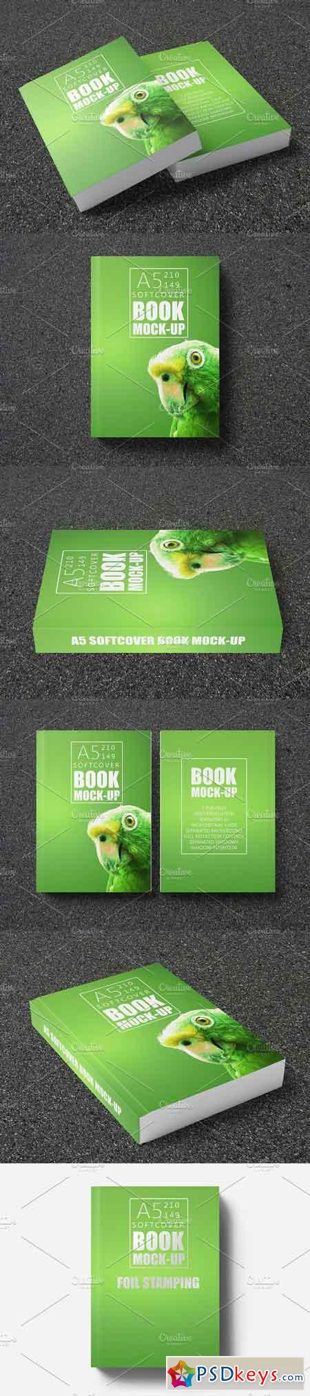 Vintage Soft Cover Book Mock Up : Book mock up a soft cover free download