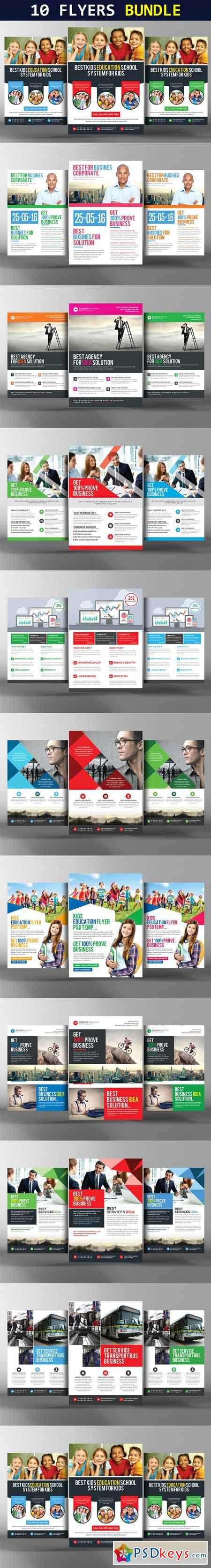 10 Multi Business Flyers Bundle 949961