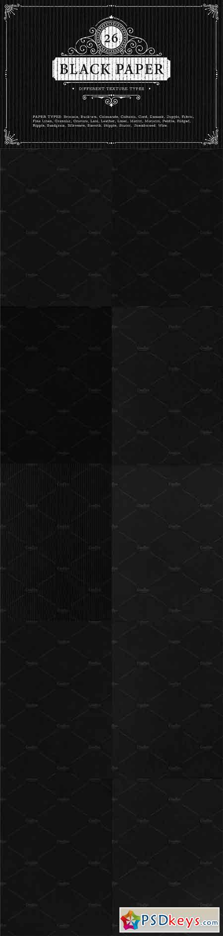 26 Black Paper Texture Backgrounds 964196
