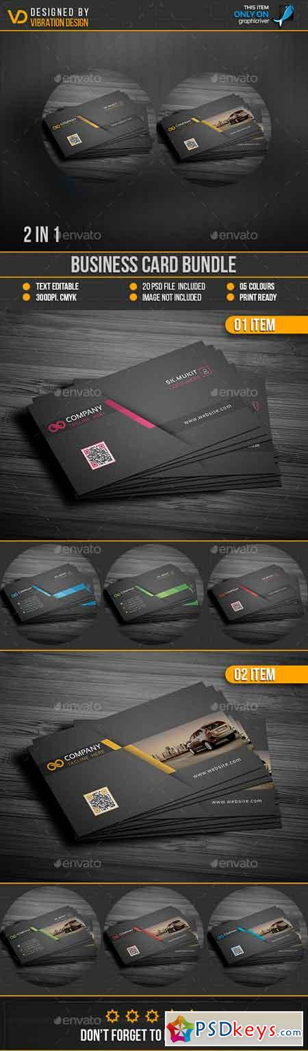 Business Card Bundle 19217340 » Free Download Photoshop Vector Stock