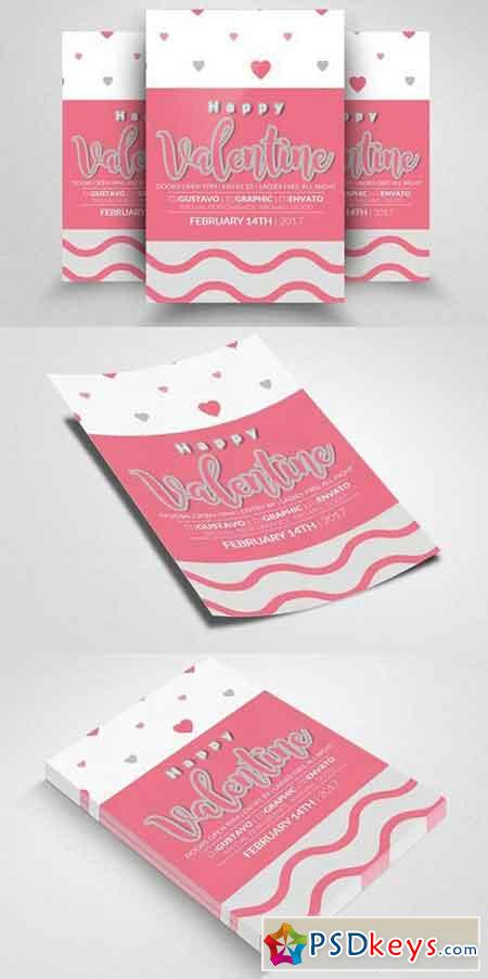 Valentines Party Flyer Templates 1168327