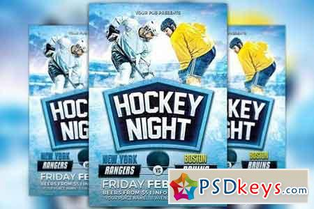 Hockey Night Flyer Template 1169175