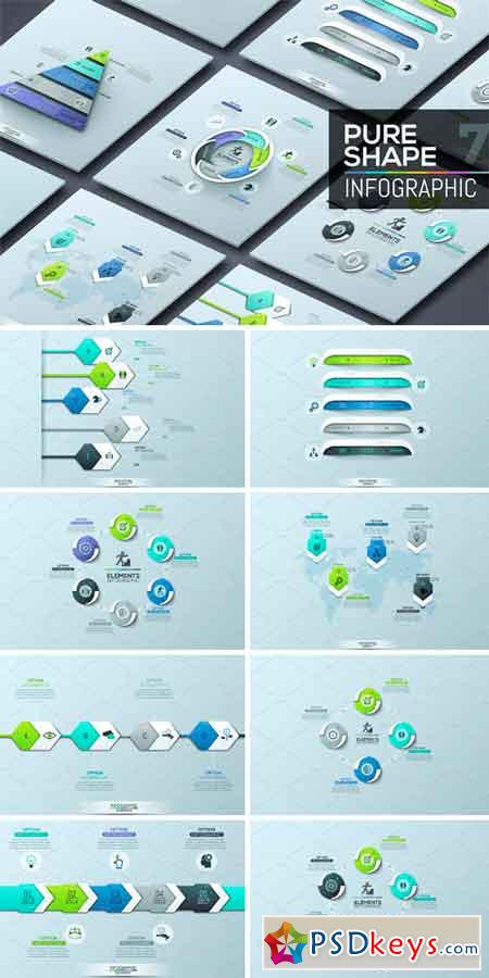 Pure Shape Infographic. Set 7 1140915