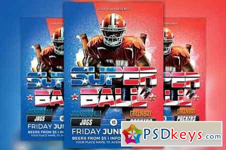 Super Ball Football Flyer Template 1169177