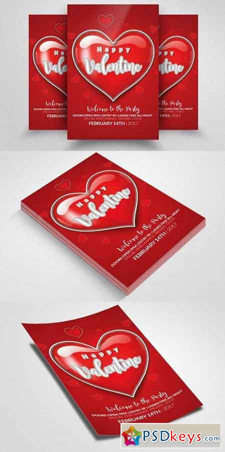 Valentines Party Flyer Templates 1168371