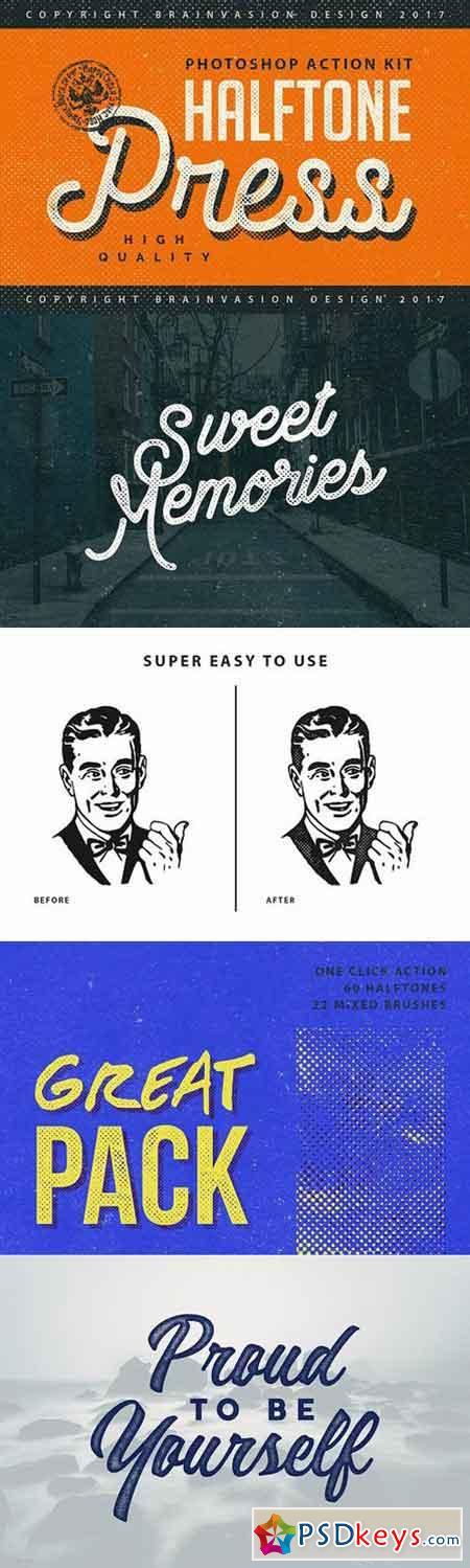 Halftone Press - Photoshop Kit 1167588