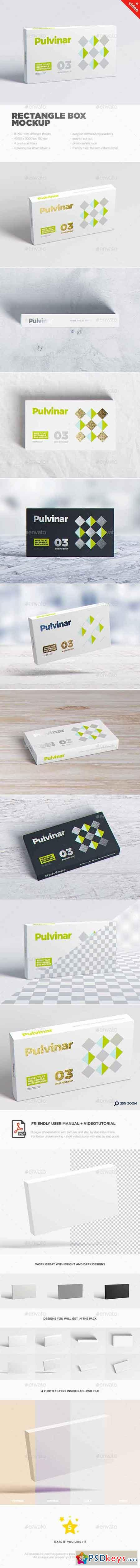 Box Packaging MockUp - Wide Flat Rectangle 17626095