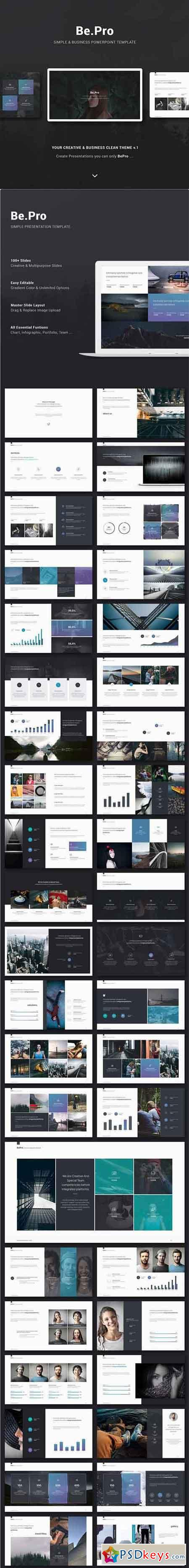 BePro Simply & Business Powerpoint Template 18369694