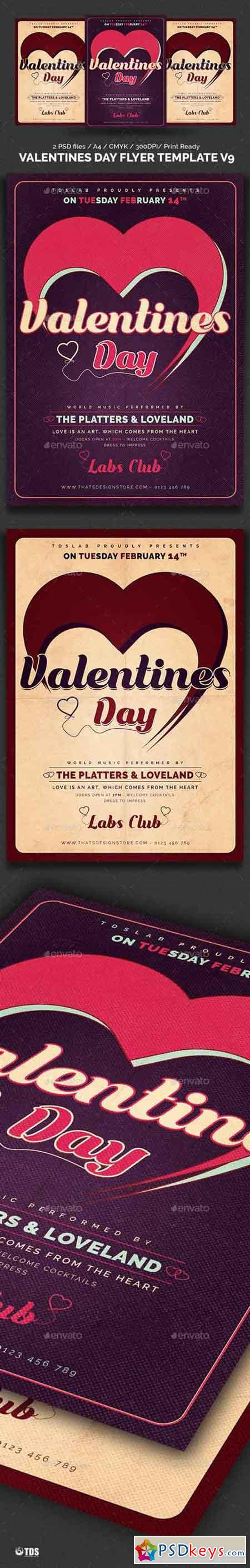 Valentines Day Flyer Template V9 19297035