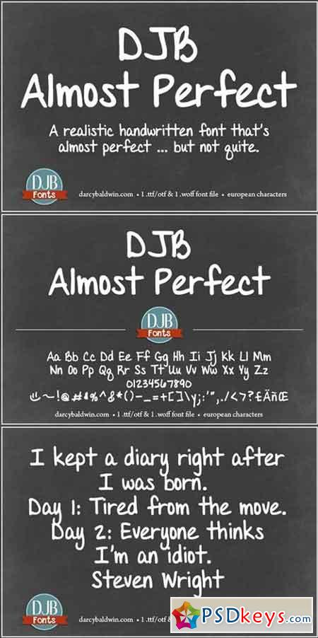 DJB Almost Perfect Font 1168705