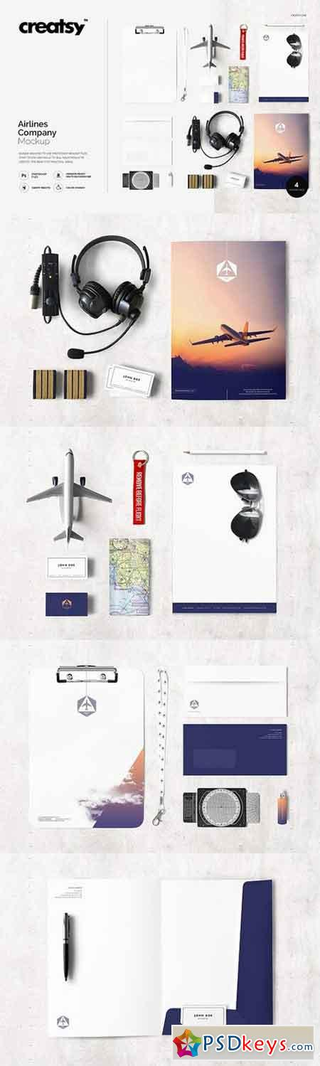 Airlines Company Mockup Set 1167932