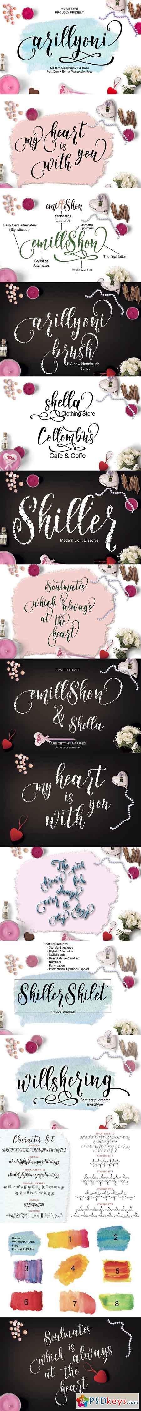 Arillyoni Script Font Duo 921554