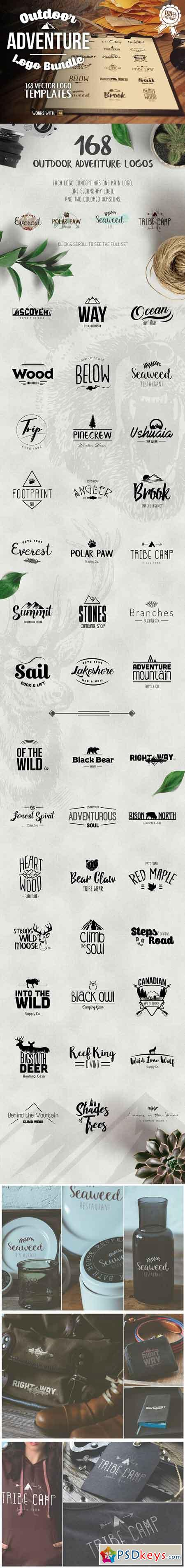 Outdoors Travel Branding Logo Bundle 1037869