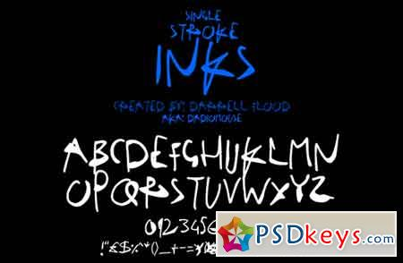 Single Stroke Inks font