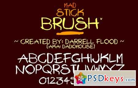Mad Stick Brush font
