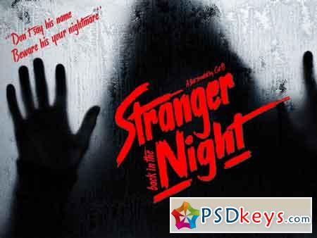 Stranger back in the Night font