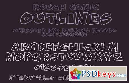 Rough Comic Outlines font