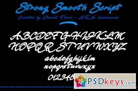 Strong Smooth Script font