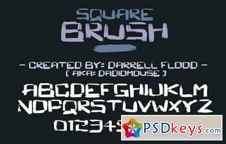 Square Brush font