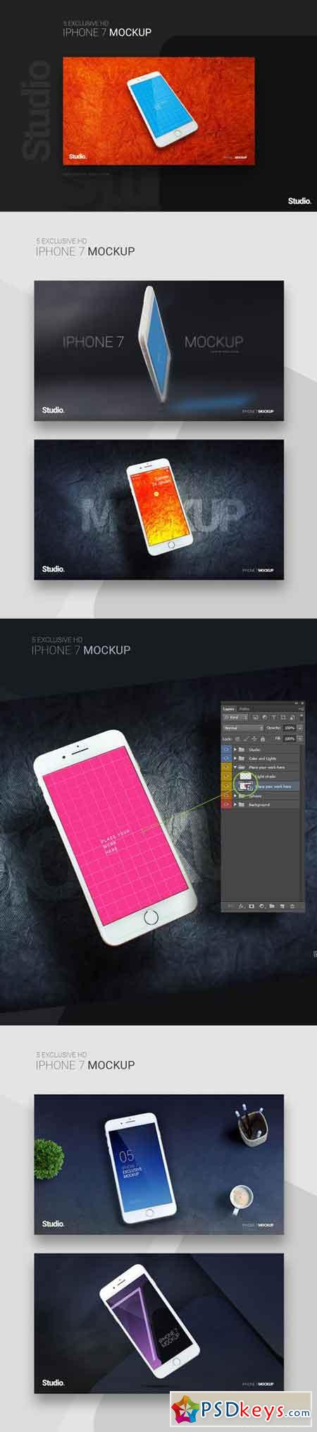 Iphone 7 Mockup - 5 Exclusive Screens
