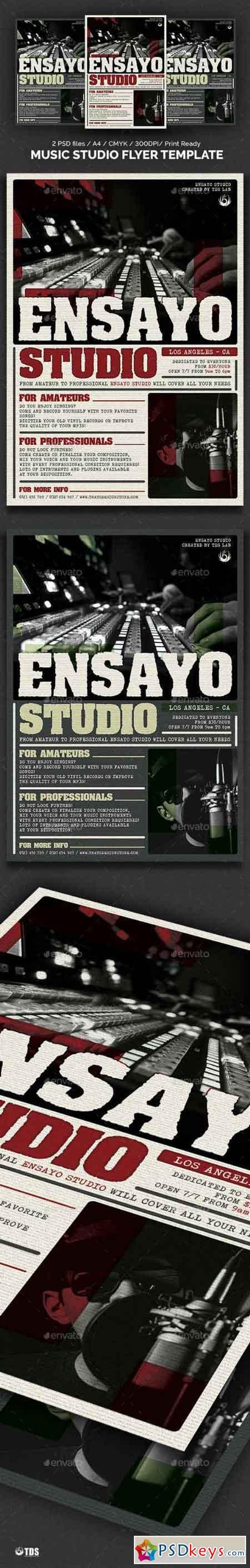 Music Studio Flyer Template 19344239