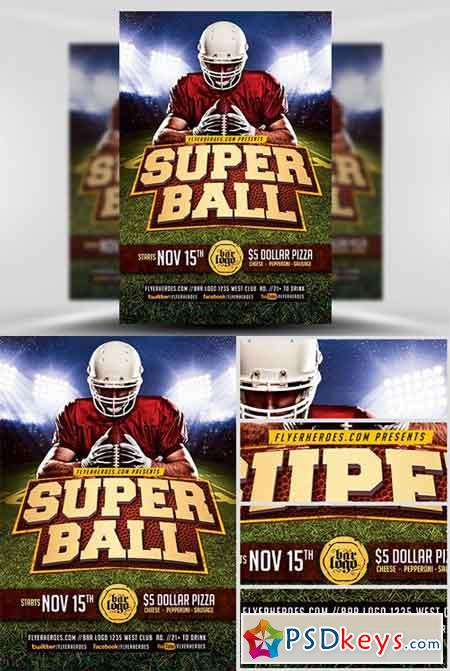 Super Ball Flyer Template v2
