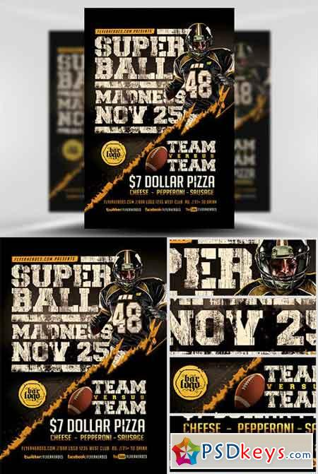 Super Ball Madness Flyer Template