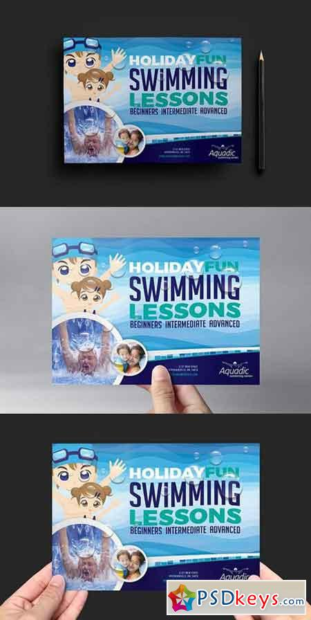 Swimming Pool Flyer Template 1173607