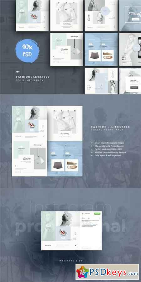 Fashion Lifestyle Social Media Pack