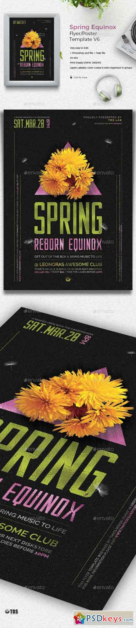Spring Equinox Flyer Template V6 19373230