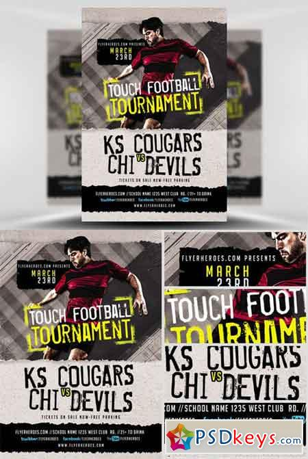 Touch Football Tournament Flyer Template