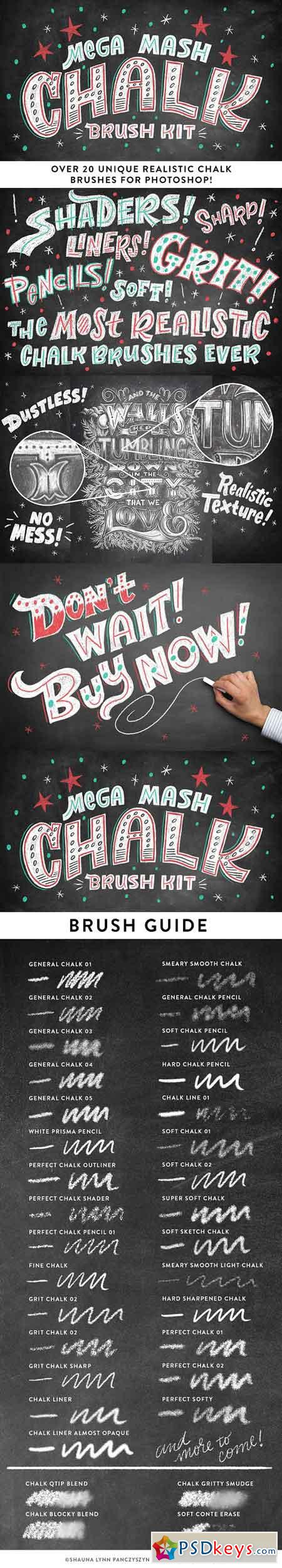 Mega Mash Chalk Brush Kit 1146691