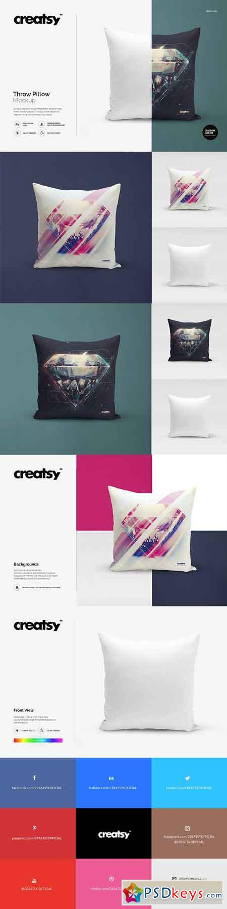 Throw Pillow Mockup 1154064