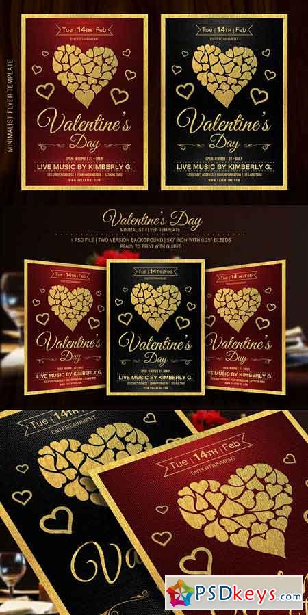 Valentine's Day Flyer Template 1153469