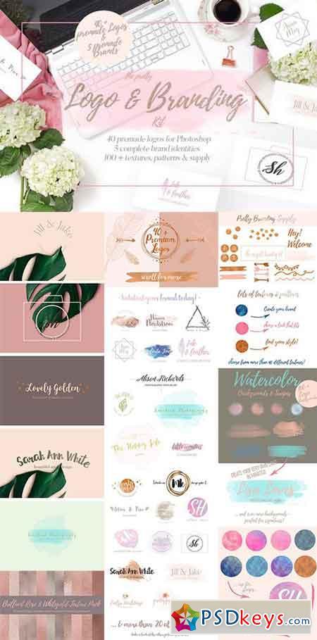 Pretty Premade Branding & Logo Kit 1192875 » Free Download