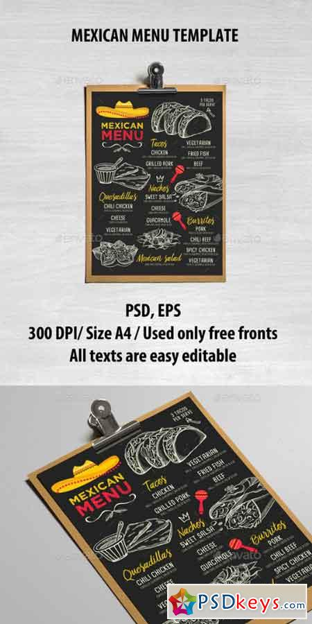 mexican menu template 16997391 free download photoshop vector