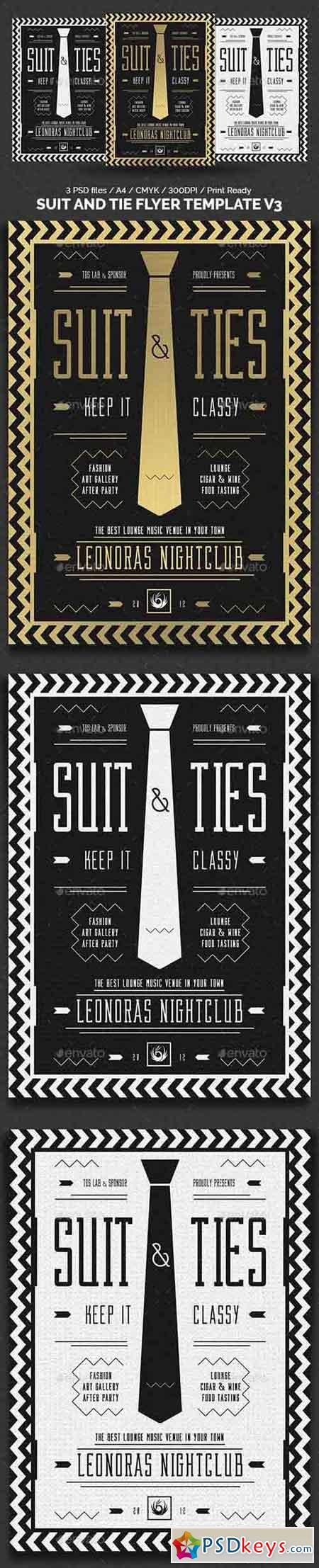 Suit and Tie Flyer Template V3 19364356