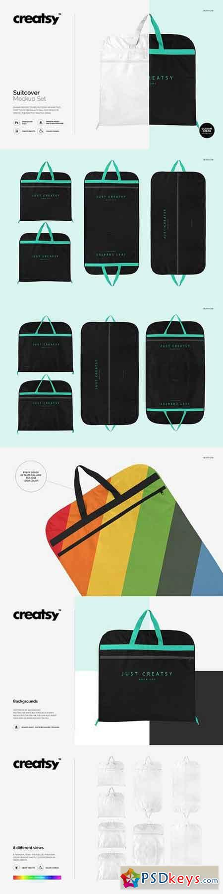 Suitcover Mockup Set 1213430