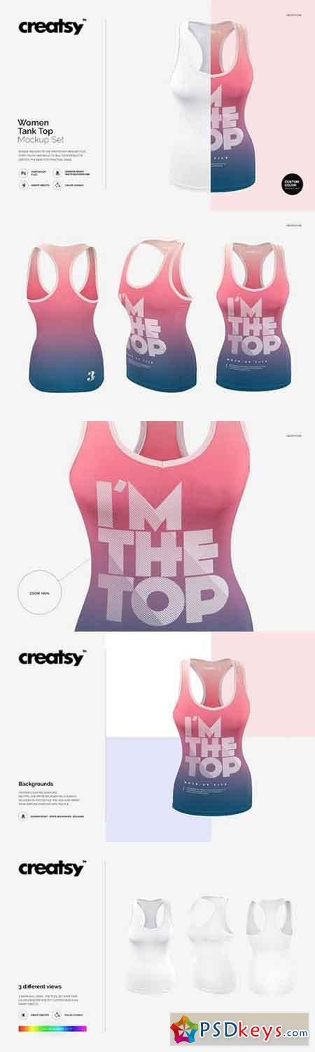 Women Tank Top Mockup Set 1201414