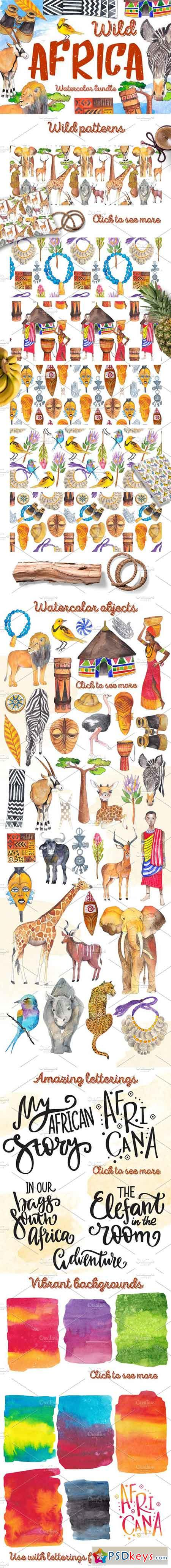 Wild Africa - Watercolor Bundle 1170928