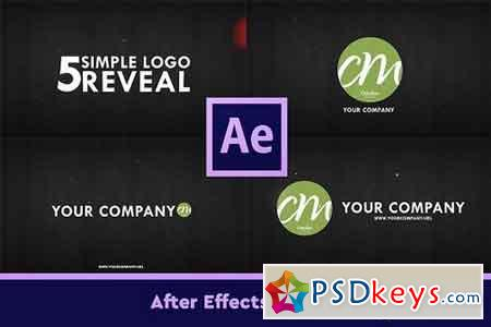 5 Simple Logo Reveals 1107054 - After Effects Projects
