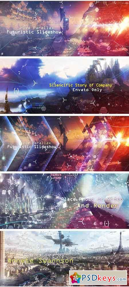Hexa Parallax Futuristic Slideshow 19141535 - After Effects Projects