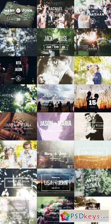 Wedding Typography Titles – Version 2 10707977 - After Effects Projects
