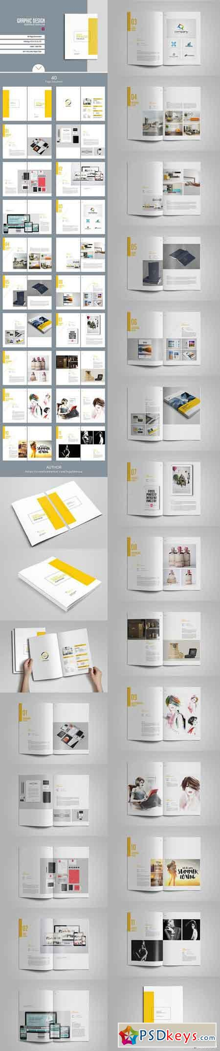 Graphic design portfolio template 1199682 free download for Graphic designer portfolio template free download