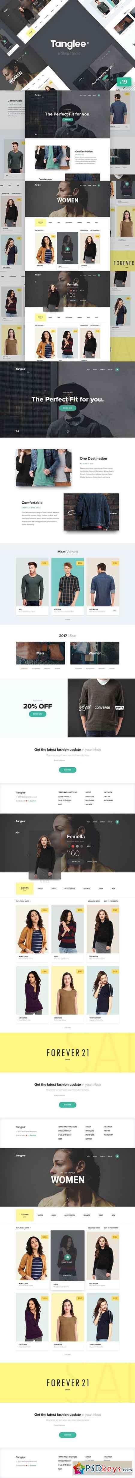Tanglee - E-Shop theme PSD 1211138