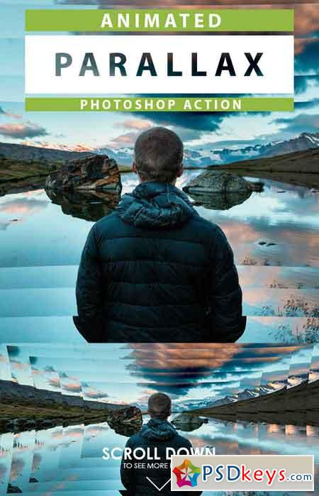 Animated Parallax Photoshop Action 19308971